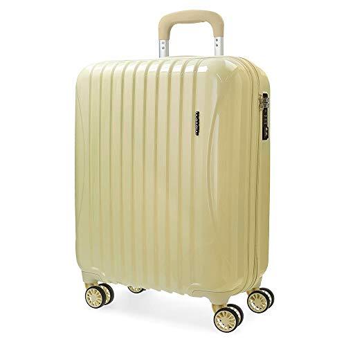 Movom Trafalgar Maleta de cabina Amarillo 39x55x20 cms Rígida ABS Cierre TSA 37L 2,8Kgs 4 Ruedas dobles Equipaje de Mano