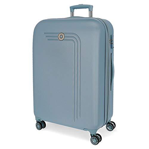 Movom Riga Maleta Grande Azul 56x80x29 cms Rígida ABS Cierre TSA 108L 4,8Kgs 4 Ruedas Dobles Extensible